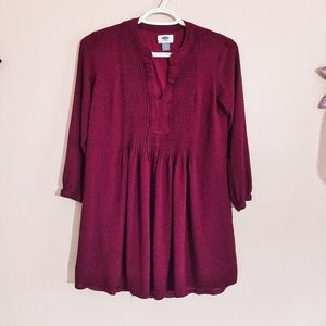Old Navy Burgundy Tunic Top XS